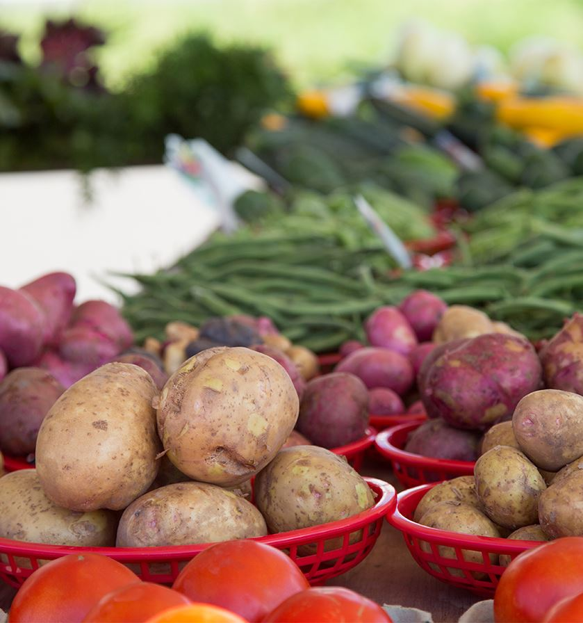 Shop the Farmers Market for locally grown produce