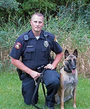 K9 team Officer Sternquist and Taz
